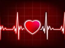 心脏打的显示器。 EPS 8 免版税库存照片