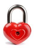 心脏挂锁 免版税库存图片