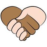 心脏握手 免版税库存图片