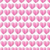 心脏无缝的传染媒介背景。无缝的样式可以是半新f 库存图片