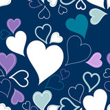 心脏无缝的样式或背景  图库摄影