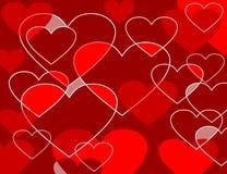 心脏无缝的样式 库存照片