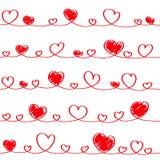心脏无缝的纹理。 向量例证