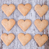 心脏曲奇饼 图库摄影