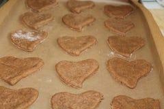 心脏曲奇饼 库存照片