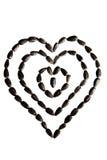 以心脏标志的形式马赛克组成由向日葵se 图库摄影