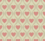 心脏标志的无缝的样式 免版税库存照片