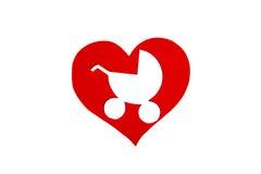 心脏标志讲话纸板形象  标志爱削去 免版税库存图片