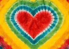 心脏标志领带被洗染的样式背景 免版税库存图片