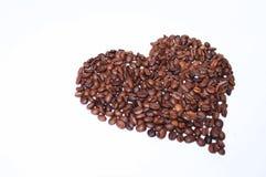 心脏标示用咖啡豆 侧视图 库存图片
