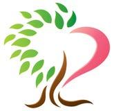 心脏树商标 免版税库存照片