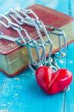 心脏栓与链子 JPG 免版税图库摄影