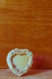 心脏框架葡萄酒 图库摄影
