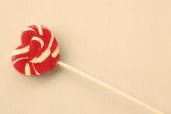 心脏棒棒糖 免版税库存照片