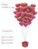 心脏气球 免版税库存照片