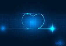 心脏波向量例证 库存照片