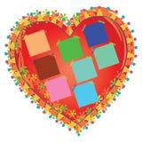 心脏照片框架背景 免版税图库摄影