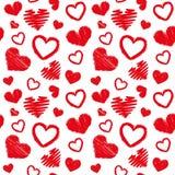 心脏爱题材华伦泰` s天无缝的样式背景 库存照片
