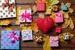 心脏玩具和礼物 免版税库存图片