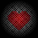 心脏瓦片背景 库存图片