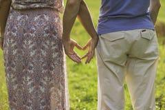心脏由刷子做成在自然背景  免版税库存图片