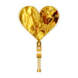 心脏由意大利节日糕点纹理制成 库存图片