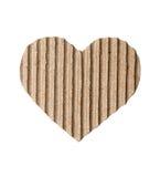 心脏由纸板制成 免版税库存照片