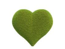 心脏由草制成 图库摄影
