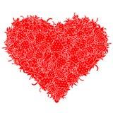 心脏由草莓制成 皇族释放例证
