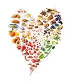 心脏由食物制成 图库摄影