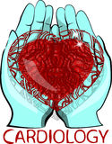 心脏病学商标 图库摄影