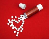 从心脏病的片剂 图库摄影