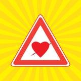 心脏病符号 库存例证