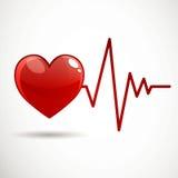 心脏病频率 库存例证