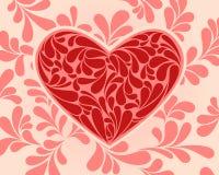 心脏的传染媒介标志与漩涡的。 免版税库存照片
