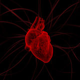 心脏的例证与冲动的 库存照片