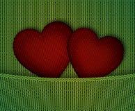 心脏的例证在编织的织品的 向量例证