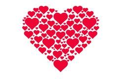 心脏的图画样式,爱,华伦泰` s天的标志 免版税库存照片