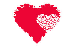 心脏的图画样式,爱,华伦泰` s天的标志 库存图片