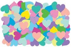 心脏的多颜色投入交叠仿造 库存图片