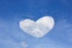 以心脏的形式云彩 免版税库存图片