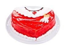 以心脏的形式可口蛋糕 免版税库存图片