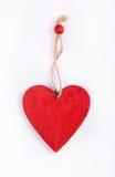 以心脏的形式木垂饰 免版税库存图片