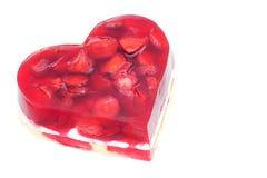 以心脏的形式果子蛋糕 免版税库存图片