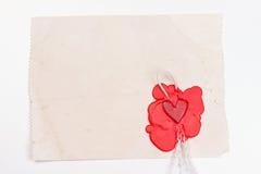 以心脏的形式标记 免版税图库摄影