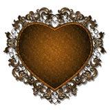 以心脏的形式框架图片或照片的 免版税库存照片