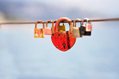 以心脏的形式衣物柜在摩纳哥 免版税库存照片