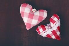 以心脏的形式装饰纪念品 图库摄影