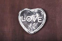 以心脏的形式装饰纪念品 免版税库存图片