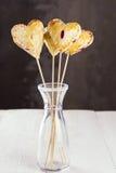 以心脏的形式,曲奇饼流行 图库摄影